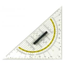 Esquadro Geométrico TimeStudent 22cm