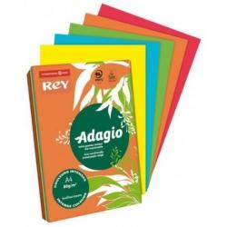 REY ADAGIO - Papel Fotocópia sortido (cores intensas)
