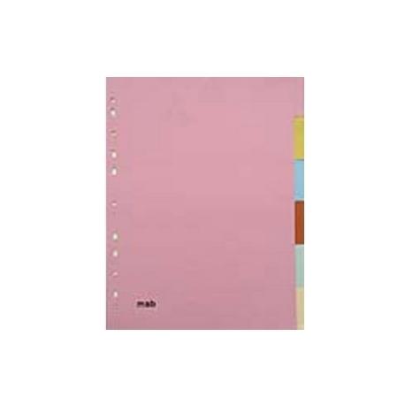 Separadores em cartolina - 6 posições