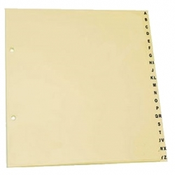 Separadores em cartolina - Alfabético (A-Z)