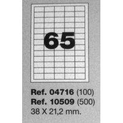 Etiquetas MULTI3, 38X21,2mm (100 folhas)