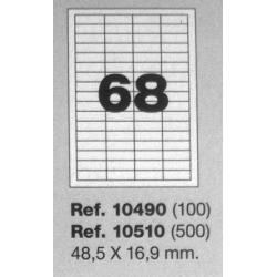 Etiquetas MULTI3, 48,5X16,9mm (100 folhas)