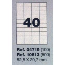 Etiquetas MULTI3, 52,5X29,7mm (100 folhas)