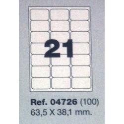 Etiquetas MULTI3, 63,5X38,1mm (100 folhas)