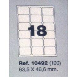 Etiquetas MULTI3, 63,5x46,6mm (100 folhas)