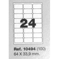Etiquetas MULTI3, 64x33,9mm (100 folhas)