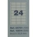 Etiquetas MULTI3, 64,6x33,8mm (100 folhas)
