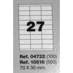 Etiquetas MULTI3, 70x30mm (100 folhas)