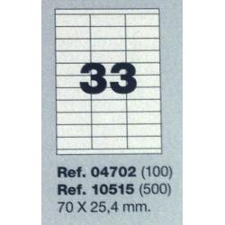 Etiquetas MULTI3, 70X25,4mm (100 folhas)