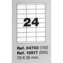 Etiquetas MULTI3, 70X35mm (100 folhas)