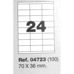 Etiquetas MULTI3, 70X36mm (100 folhas)