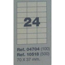 Etiquetas MULTI3, 70X37mm (100 folhas)