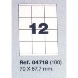 Etiquetas MULTI3, 70x67,7mm (100 folhas)