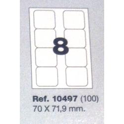 Etiquetas MULTI3, 70x71,9mm (100 folhas)