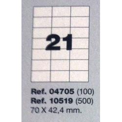 Etiquetas MULTI3, 70x42,4mm (100 folhas)