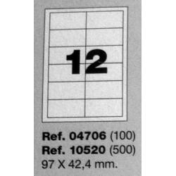 Etiquetas MULTI3, 97x42,4mm (100 folhas)