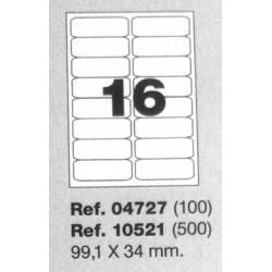 Etiquetas MULTI3, 99,1X34mm (100 folhas)