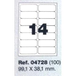 Etiquetas MULTI3, 99,1X38,1mm (100 folhas)
