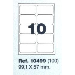 Etiquetas MULTI3, 99,1x57mm (100 folhas)
