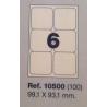 Etiquetas MULTI3, 99,1x93,1mm (100 folhas)