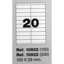 Etiquetas MULTI3, 105x29mm (100 folhas)