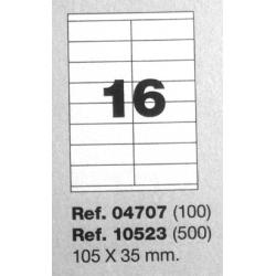 Etiquetas MULTI3, 105X35mm (100 folhas)