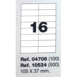 Etiquetas MULTI3, 105X37mm (100 folhas)