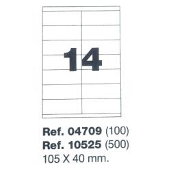 Etiquetas MULTI3, 105X42,4mm (100 folhas)