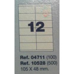 Etiquetas MULTI3, 105X48mm (100 folhas)