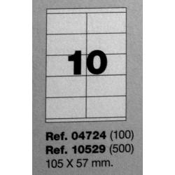 Etiquetas MULTI3, 105x57mm (100 folhas)
