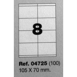 Etiquetas MULTI3, 105x70mm (100 folhas)