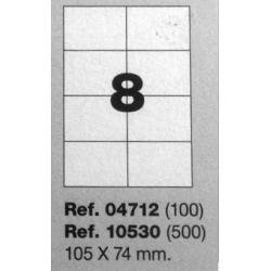 Etiquetas MULTI3, 105X74mm (100 folhas)