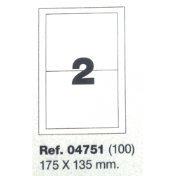Etiquetas MULTI3, 175x135mm (100 folhas)