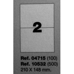 Etiquetas MULTI3, 210X148mm (100 folhas)