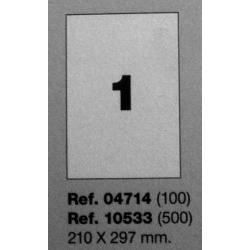 Etiquetas MULTI3, 210X297mm (100 folhas)