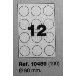 Etiquetas MULTI3, r:60mm (100 folhas)