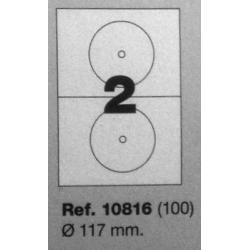 Etiquetas MULTI3, r:117mm (100 folhas)