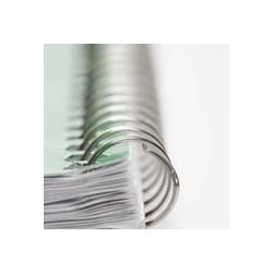 Espiral Metálico A4 Branco (6-50mm ~ 20-450 folhas)