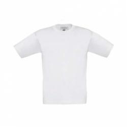 T-shirt B&C Exact 190 de criança - Branca