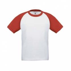 T-shirt B&C Base-Ball de criança