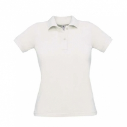 Polo B&C Safran Pure Women - Branca