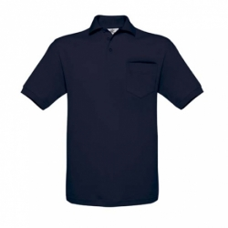 Polo B&C Safran Pocket 180g - Cores