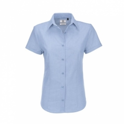 Camisa B&C Oxford Women de manga curta