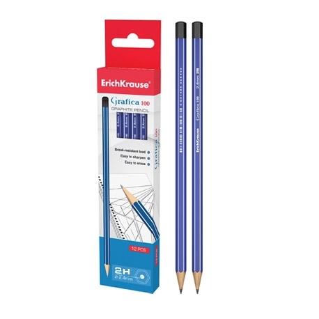 Lápis de grafite gráfica H 100 (pack 12 unid)