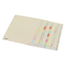 Separadores A4 em cartolina ANCOR (6, 8, 10, 12, 24) posições